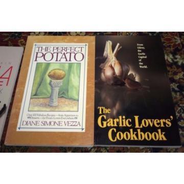Lot 8 Cookbooks Featuring Specific Foods: Mushrooms, Rice,Onions,Potatoes,Garlic