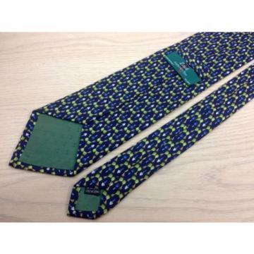 Novelty Tie Zadi Green Garlic & Shovel Gardening on Blue Silk Men Necktie 45