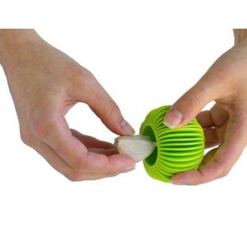 HIC Harold Import Co. HIC The Garlic Peeler, Silicone, Lime Green
