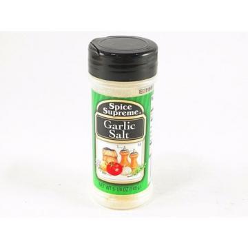 Garlic Salt Spice Supreme Quality Cooking Spices Seasonings Herbs 5.25oz Sealed