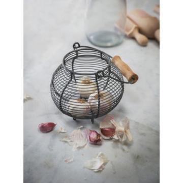 Garden Trading Garlic Korb - Dunkelgrau