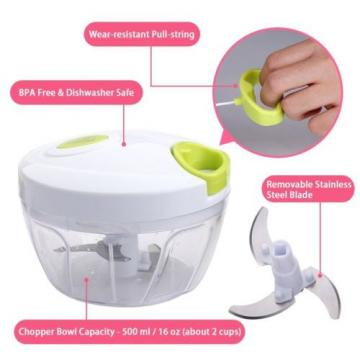 Uten® Kitchen Mini Chopper Food Pull Processor - for Vegetable, Fruit, Garlic