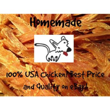 Homemade All Natural USA Chicken Jerky Treats Fillets Tenders for Dogs/Cats/Pets