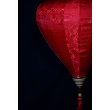 """12"""" Red Vietnamese Silk Lantern, Garlic Umbrella"""