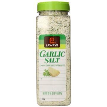 HUGE Lawry's Garlic Salt Seasoning Spice with Parsley 33 oz (2 lb 1 oz)