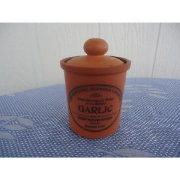 the original suffolk canister garlic spice  henry watson pottery