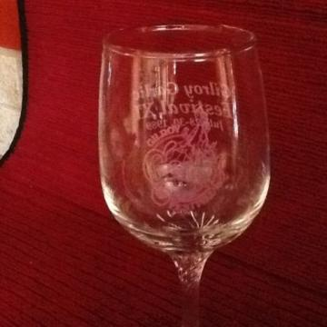 2 Gilroy Garlic Festival Wine Glasses - Dated 1989 - Original Owner - New