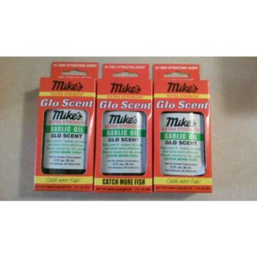 Mike's Extra Strength Glo Scent Garlic Oil 7004 2 FL OZ. Lot of 3