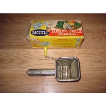 Vintage 1950 Mouli Parsley-Garlic Kitchen Mincer/Steel Construction/Free Ship!
