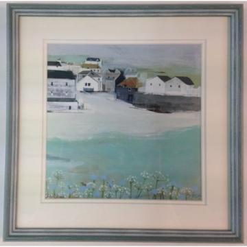 HANNAH COLE WILD GARLIC FRAMED PRINT PICTURE COASTAL SEASIDE HARBOUR FLOWERS SEA