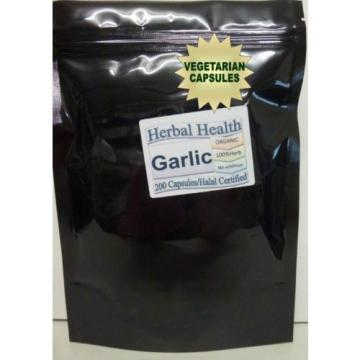 Garlic Certified Organic 200 Vege Capsules