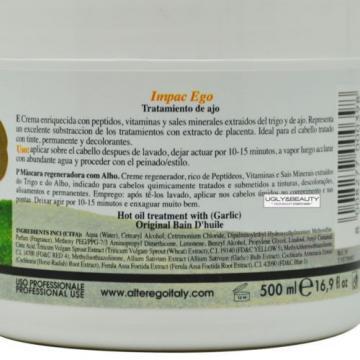 Alter Ego Garlic Mask Plus Vitamin A 500 mL / 16.9 Fl. Oz. Hot Oil Treatment