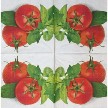 2 single paper napkins Decoupage Scrapbooking Collection Tomato Seasoning Garlic