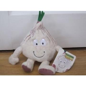 "GRACE GARLIC GOODNESS GANG PLUSH 10"" SOFT TOY FRUIT & VEGETABLE TAGGED"