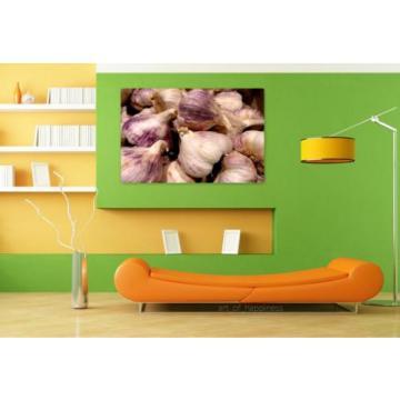 Stunning Poster Wall Art Decor Garlic Violet Head Of Garlic 36x24 Inches
