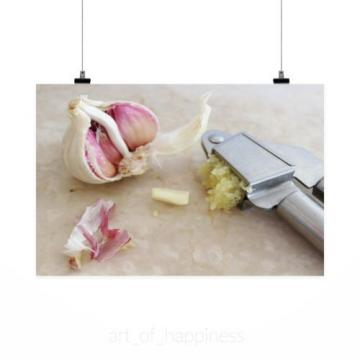 Stunning Poster Wall Art Decor Garlic Garlic Press Spice Tuber 36x24 Inches