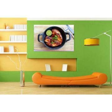 Stunning Poster Wall Art Decor Chicken Grilled Bbq Roast Garlic 36x24 Inches