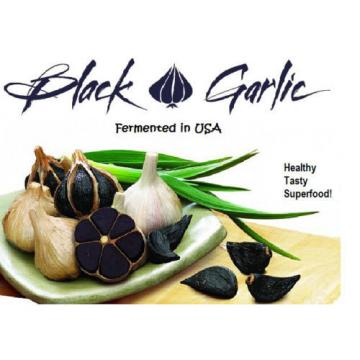BLACK GARLIC USA 2 pound (32 oz)  Large Garlic whole bulb - Health Food -Save $7