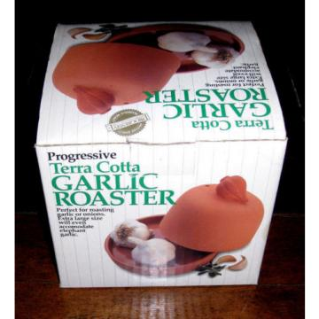 Progressive International Terra Cotta Garlic Roaster GGR-425 Onions Elephant NEW