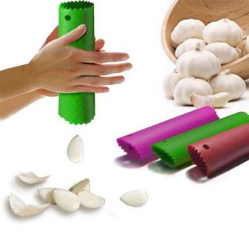 Garlic Peel Easy Useful Magic Silicone Peeler Kitchen Tools Random Color Hot New