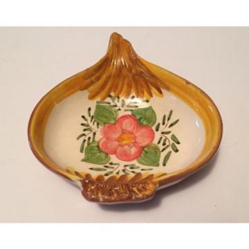 1960s Olaria Jose Cartaxo Portugal Pottery Hand Painted Onion or Garlic Bowl