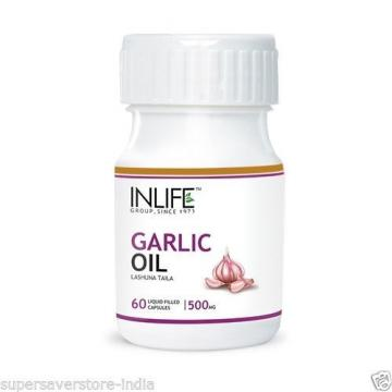 Garlic Oil Supplement,500 mg Improve Digestive System 60 capsules