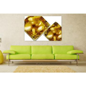 Stunning Poster Wall Art Decor Garlic Oil Glass Inserted 36x24 Inches