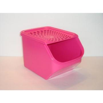 Tupperware Onion & Garlic Smart Access Mate Pink 3qt~3L with Self Vent Seal New