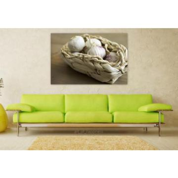 Stunning Poster Wall Art Decor Garlic Food Fresh Vegetable 36x24 Inches