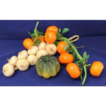 Plastic Fruit Vegetables Garlic Mandarins Pumpkin Shop Display Food Styling