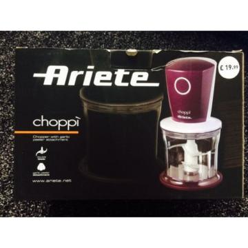 Ariete Choppy Chopper With Garlic Peeler Attachment - 500ml Bowl - Lid - Purple