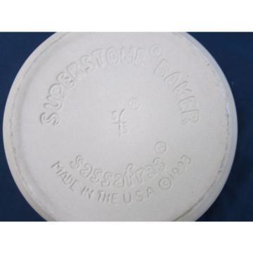 Vintage Garlic Baker Pottery Oven Casserole Clay Superstone USA Sassafras