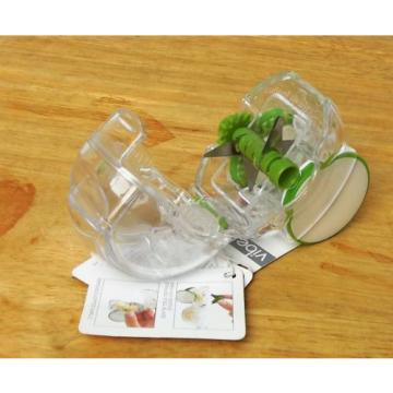 CHEF'N VIBE ROLLING GARLIC CHOPPER  CLEAR/GREEN PLASTIC STAINLESS NWT