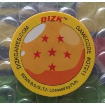 Dragon ball Z Fluro Dizk Tazo 39 GARLIC TRANSFORMED Power 1400 Rare Dragonballz