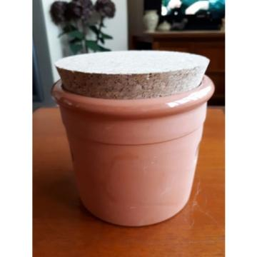 FINEST QUALITY TERRACOTTA GARLIC STORAGE JAR - UNUSED