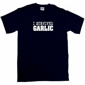 I Survived Garlic Mens Tee Shirt Pick Size Color Small-6XL