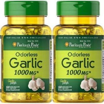 2  Garlic 1000 mgr, 100 caps. natural antibiotic