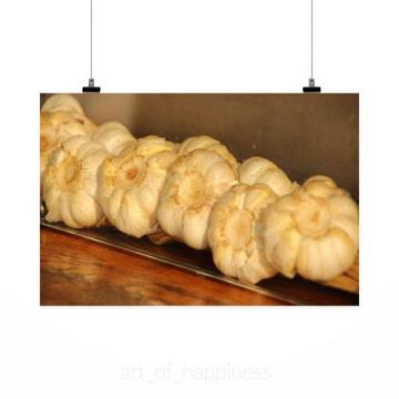 Stunning Poster Wall Art Decor Garlic Cook Ingredients Food 36x24 Inches