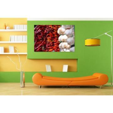 Stunning Poster Wall Art Decor Garland Pepper Garlic Dried 36x24 Inches