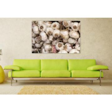 Stunning Poster Wall Art Decor Garlic Vegetables Market Food 36x24 Inches
