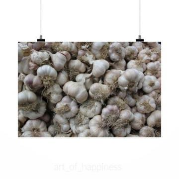 Stunning Poster Wall Art Decor Garlic Texture Background Natural 36x24 Inches