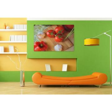 Stunning Poster Wall Art Decor Tomatoes Garlic Vegetarian Kitchen 36x24 Inches