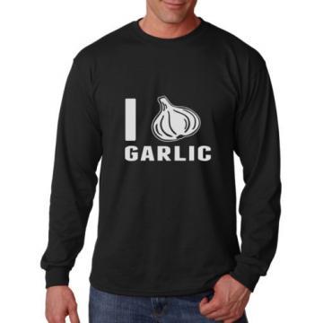I LOVE GARLIC Long Sleeve Unisex T-Shirt Tee Top