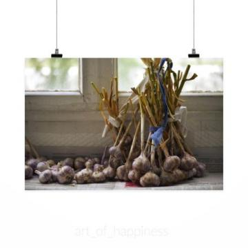 Stunning Poster Wall Art Decor Garlic Comfort Harvest Dacha 36x24 Inches