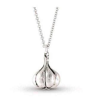 Special Holiday Garlic Silver Pendant Necklace