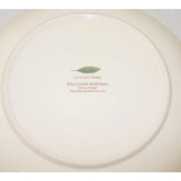 "Williams Sonoma pasta serving bowl 13"" Culinary Herbs Flower Clove Garlic"