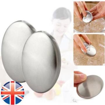 *UK Seller* Stainless Steel Soap Kitchen Eliminating Remove Garlic Odor Smell