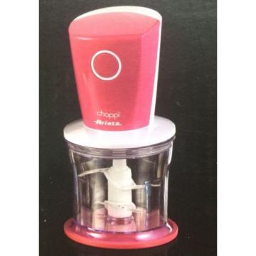 Ariete Choppy Chopper With Garlic Peeler Attachment - 500ml Bowl - Lid - Pink