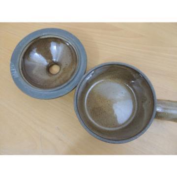 Stoneware Pottery Brown Garlic Roaster Lidded Soup Bowl