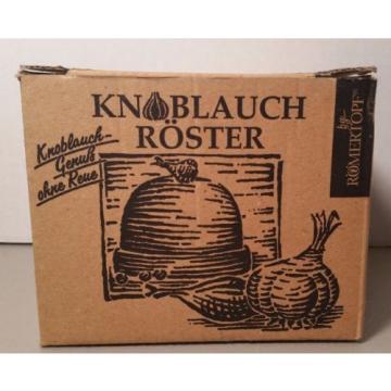 Romertopf Glazed Terracotta Clay Garlic Roaster Oven Baker Reston Lloyd New
